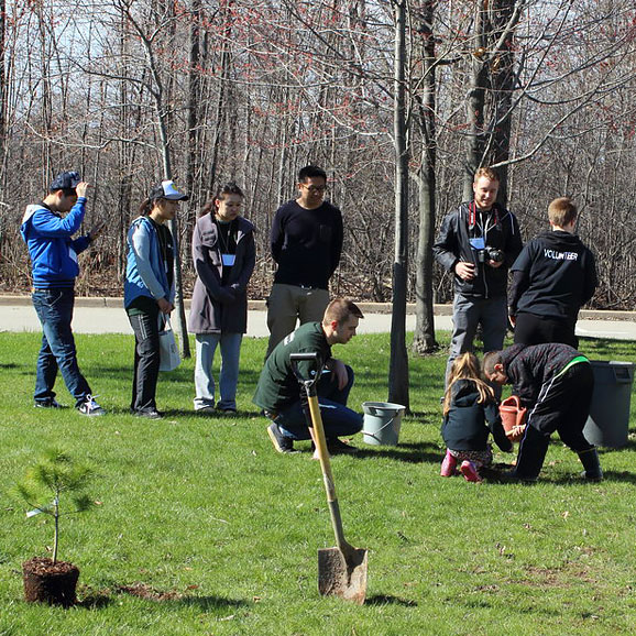 Students participate in Earth Day