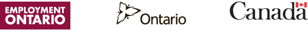 Logos for Employment Ontario and Government of Ontario and Government of Canada